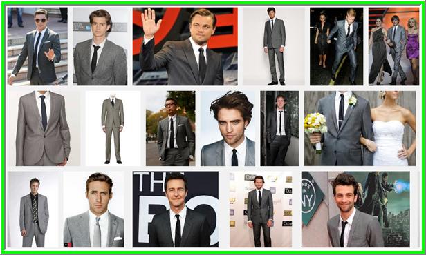 Szürke öltönyhoz fekete nyakkendő