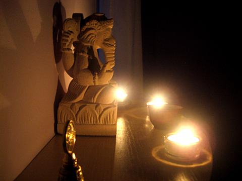 Jógastúdió oltár
