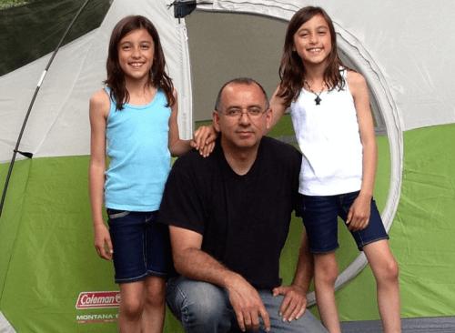 kempingezés a gyerekekkel - családapa