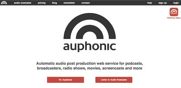 Auphonic podcast utófeldolgozó szolgáltatás