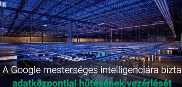 Google mesterséges-intelligencia adatközpont hűtés vezérlésében
